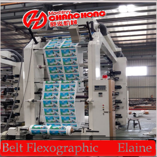 4-Color Shrink Film Flexo Printing Machine (CH884-1200) pictures & photos