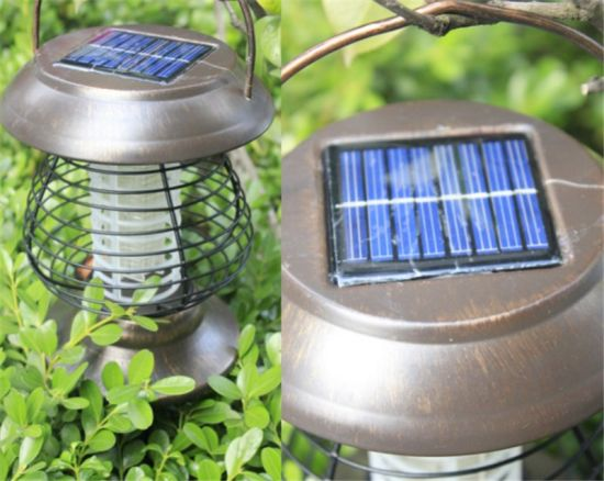 Solar-Powered Mosquito Fly Pest Insect Bug Zapper Yard Outdoor Solar Light pictures & photos