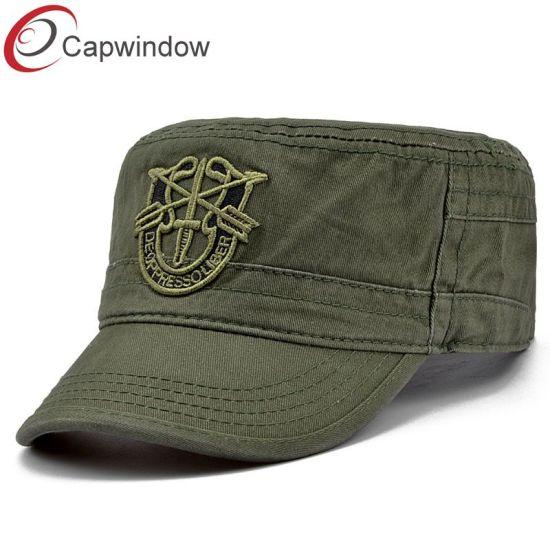 9de02eba952 China 2018 New Army Cap with Custom Embroidery Logo - China Army Hat ...