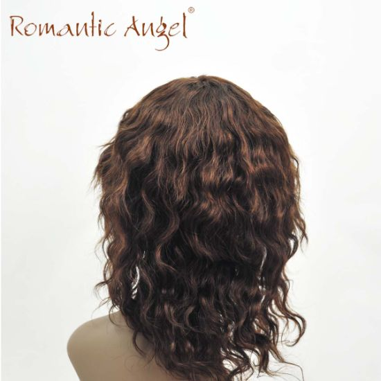 100% Indian Human Hair Natural Loose Wave Curly Wigs Machine Made Glueless Cheap Wigs pictures & photos