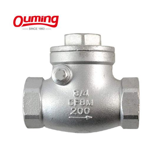 "1/"" inch Swing check valve NPT Stainless steel non-return water oil Gas"