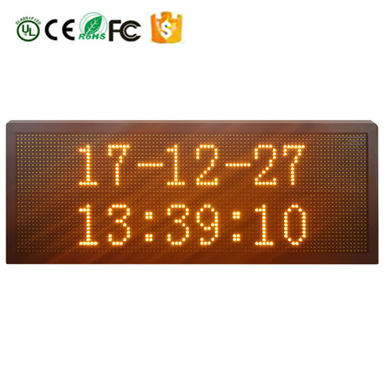 P10-32X96 Yellow U-Disk Control Outdoor Waterproof LED Display Screen Picture or Text Can Be Edited pictures & photos