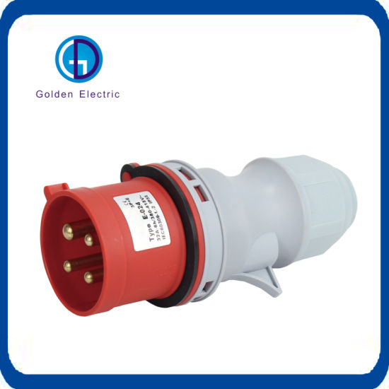 Free Sample IP44 Waterproof 3pin 16A Electrical Male and Female Industrial Plug and Socket