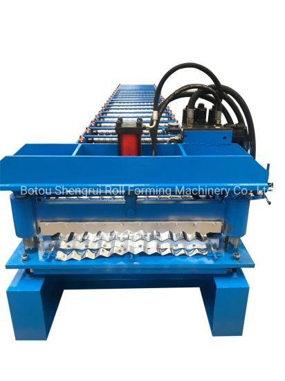 Cold Metal Aluminum Galvanized and Colored Corrugated Roofing Sheets Roll Forming Machine /Corrugated Roofing Sheets Making Roll Former Machine Factory Price