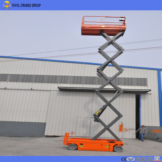 China Electric Moving Hydraulic Mobile Scissor Lift Platform