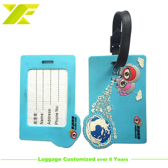 Professional Customized Cartoon PVC Rubber Luggage Tag for Souvenir (LT01-C) pictures & photos