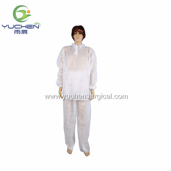 Knitted Cuffs Lab/Visitor Coat PP SMS Soft Lab Coat, Disposable Lab Coat, Non Woven Lab Coat