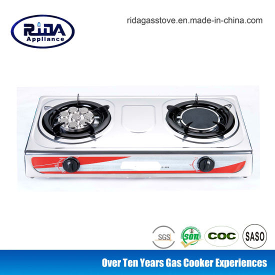 Thailand Popular 8 Ears Infrared Burner Stainless Steel Gas Stove Gas Cooker