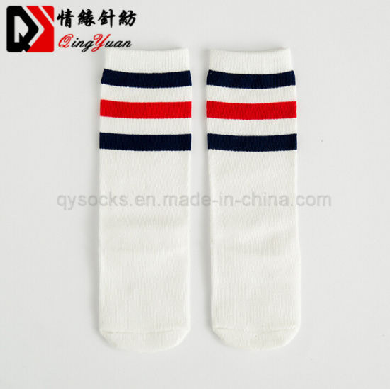 542b2e84b2fa9 Baby Girl Toddler Kids Long Knee High Socks Length Cotton Football Sports  Stripes School Warmer Socks for Baby Children