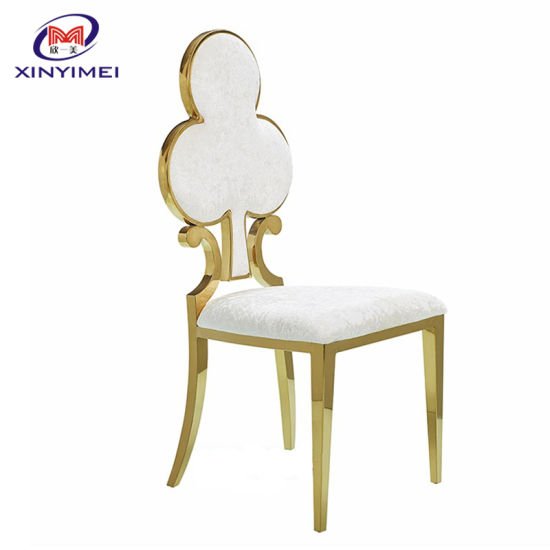 Cheap Modern Metal Stainless Steel Hole Back Gold Wedding or Event Chair pictures & photos