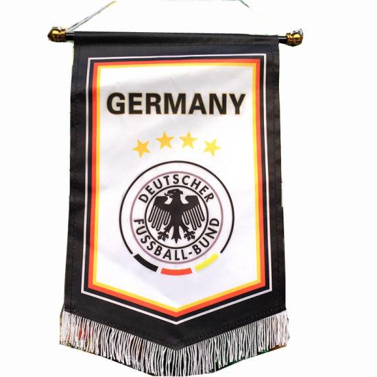 Mini Custom Logo Design Soccer Pennant, Football Club Exchange Flag