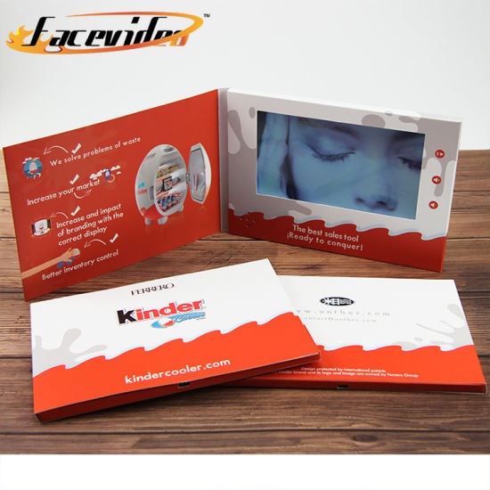China Facevideo Cheap Price Birthday Lcd Greeting Video Pc Card