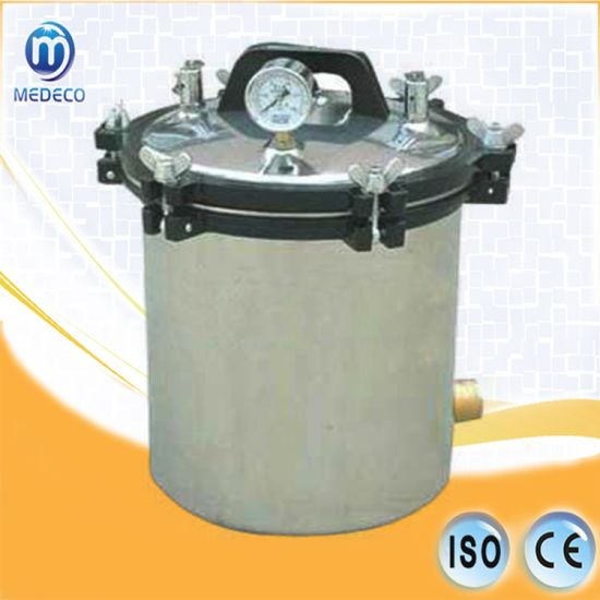 China Portable Stainless Steel Steam Sterilizer Me-18lm Medical