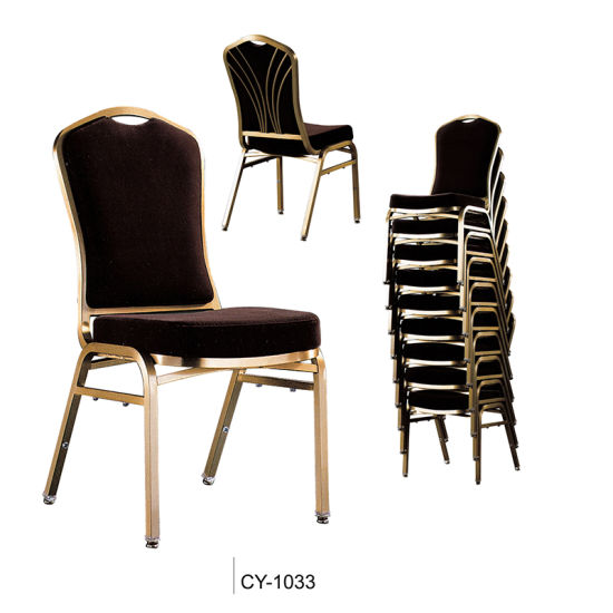 Top Furniture Metal Stackable Back Design Banquet Chair