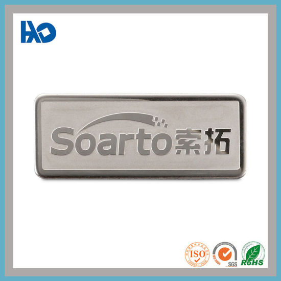 Custom Amazing Embossed Stainless Steel Logo Etched Metal Plate Sticker Logo Label