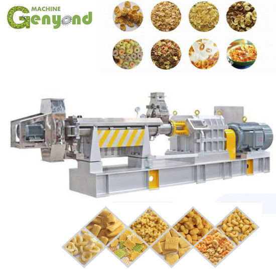 China Supply Breakfast Cereals Corn Chip Flakes Processing Line Machine for Factory pictures & photos