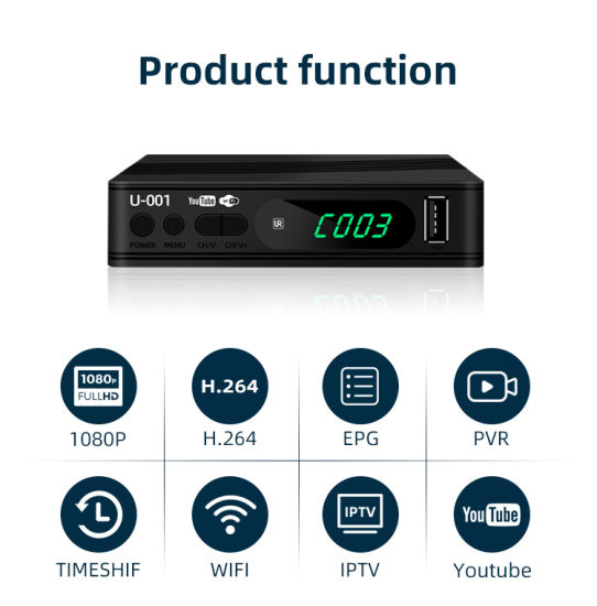 Junuo Factory Competitive Price Firmware Upgrade DVB-T2 Decoder