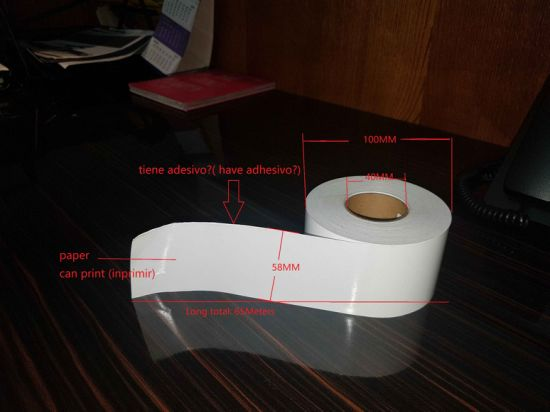 Manufacturers Supply Continuous Label Roll 58mm*65m a Roll