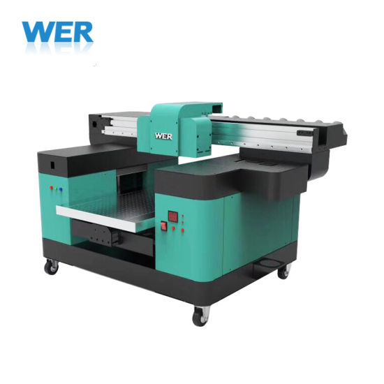 Ce Approved A2 Desktop UV LED Flatbed Printer for Printing PVC ID Card, Pen, Phone Case, Glass, Metal