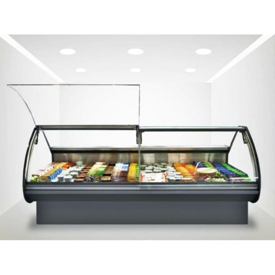 High Quality Forced Air Cooling Butcher Display Meat Freezer