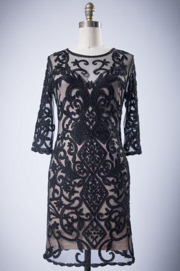 Black Solemn Formal Womens' Polyester Fabric Evening Dress