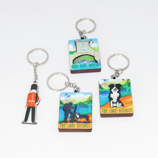 Promotional Epoxy Souvenir Gift Custom Made Key Chain Key Ring for Decoration