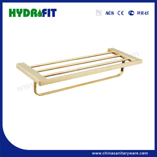 S. S304 Good Quality Golden Towel Shelf (BAS3498G)