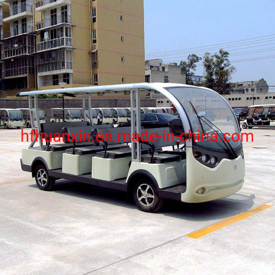 14 Seats Battery Operated Sightseeing Golf Bus with High Quality