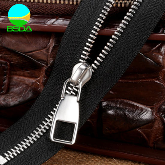 3# Metal Zipper for Jeans with Stainless Steel Teeth Best Quality Polished Teeth Zipper