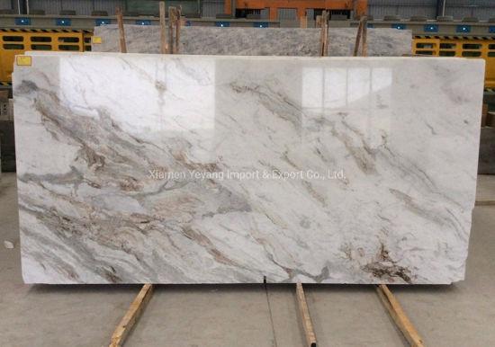 Arabescato Venato White Marble Stone Slabs for Construction/Flooring/Walling/Tiles/Countertop