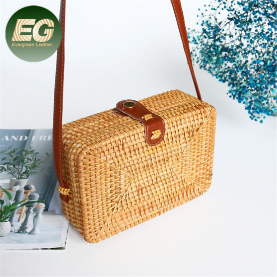 T120 Summer Bohemian Style Beach Bag Woven Basket Handbags Vietnam Rectangle Ladies Crossbody Shoulder Fashion Rattan Straw Handbag pictures & photos