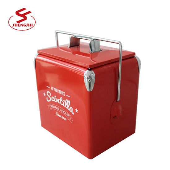 New Design Fashion Style Wholesale Price Metal Wine Cooler Box for Outdoor Activities