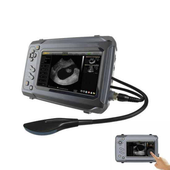 Cow Sheep Pregnancy Test Ultrasound Machine, Touchscreen Digital Portable Bovine Vet Ultrasound, Backfat B Mode Ultrasound Scanner