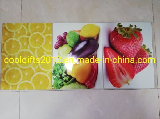 40cm*30cm Tempered Glass Cutting Chopping Board with Customized Sublimation Design