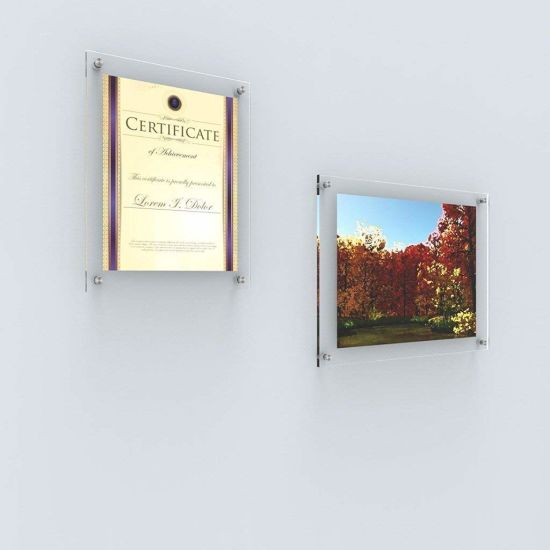 Acrylic Wall Mount Picture Poster Exhibit Frame