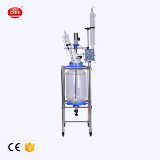 Chemical Double Layer Reaction Glass Reactor