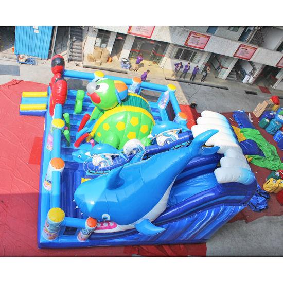 Amazing Undersea Animal Funcity Inflatable Sea World Amusement Park