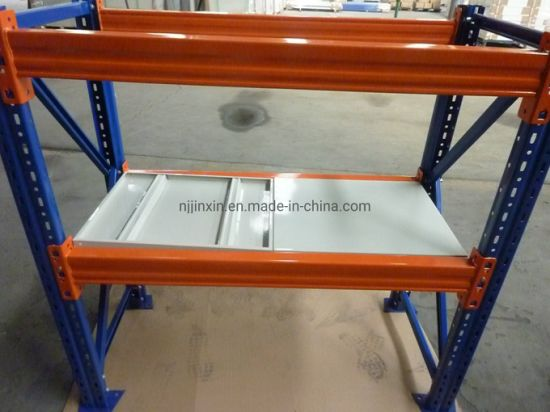 Powder Coated Steel Panel Metal Warehouse Storage Pallet Rack