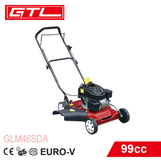 99cc Gasoline Lawn Mower, Self-Propelled 18 Inch Mower Four-Stroke Multi-Function Lawn Mower, School Park Playground