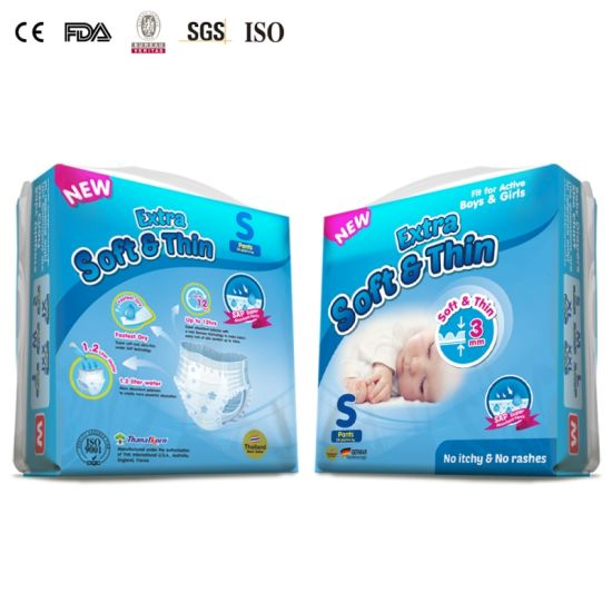 Ultra Thin Only 3mm Baby Pull up Competitive Price Super Soft Baby Pants  Diaper