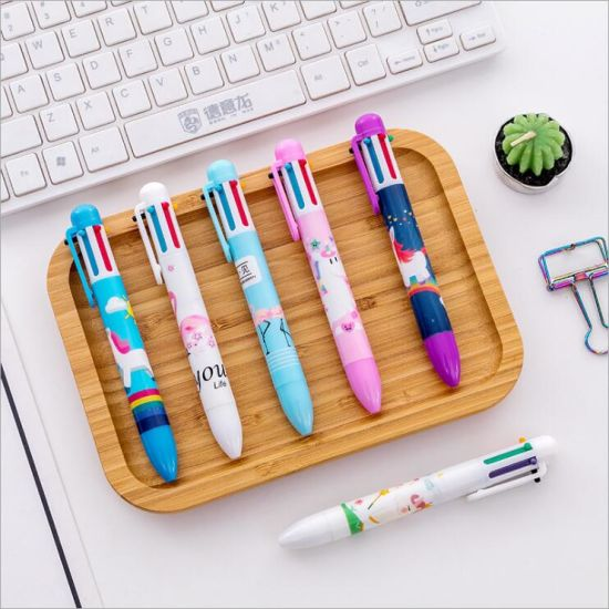 Promotion Gift Six Color Cartoon Ball Pen for Children pictures & photos