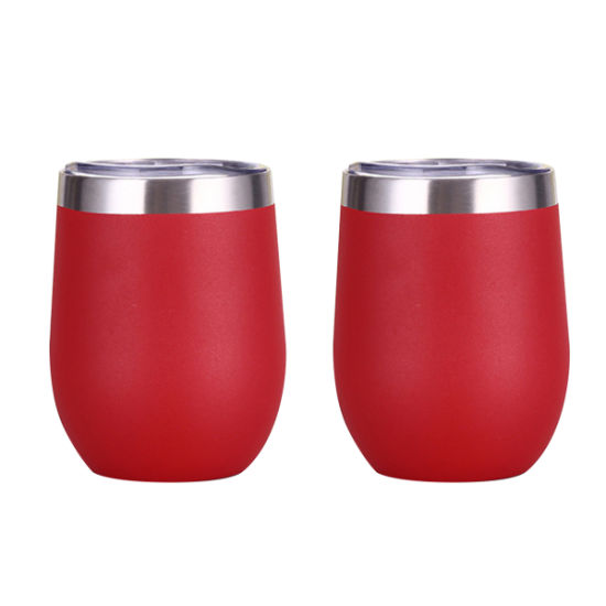 Wevi Metal Custom Vacuum Wine Sippy Cup with Straws