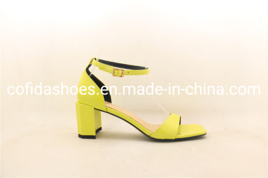 Latest Unique Low Heel Women Sandal Shoes pictures & photos