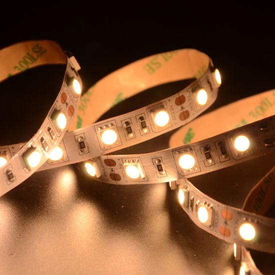 High Brightness White Color LED Flexible Strip IP20 SMD5050 Chip 60LEDs 14.4W DC12V LED Strip