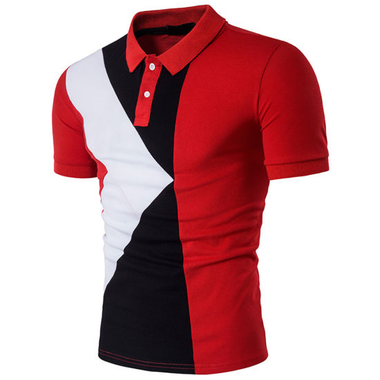 Custom Contrast Design Cotton Polo Shirts for Men - China Polo ...