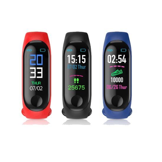 2019 Newest M3 Waistband Smart Bracelet with Blood Pressure Heart Rate Monitor and Sport Supervise for Child and Students Smart Watch Wrist Watch Watch Phone