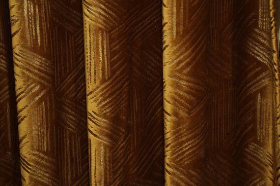Gold Jacquard Blackout Curtain Fabric