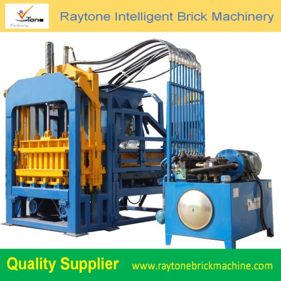 QT4-15 Hydraulic Solid Moulding Block Machine Hollow Paver Brick Making Machinery
