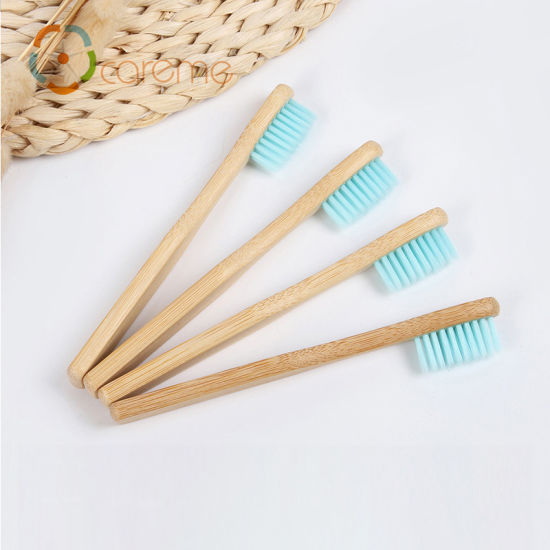 Custom Private Label Eco Friendly Biodegradable Wholesale Disposable Charcoal Bamboo Baby Toothbrush
