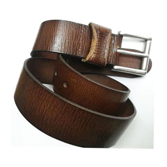 High Quality Brown Color Real Leather Belt China Manufacture for Man